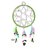 Enamel Dream Catcher Pendant