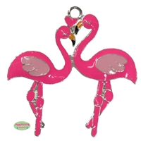 Flamingo Love Enamel Pendant