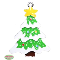 Enamel Frosted Christmas Tree Pendant