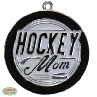 Hockey Mom Enamel Pendant 49mm x 26mm