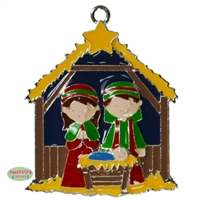 Christmas Nativity Enamel Pendant