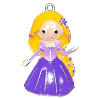 Long Haired Princess Enamel Pendant