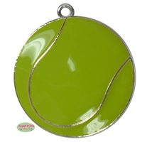 Enamel Tennis Ball Pendant