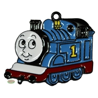 Blue Train Enamel Pendant