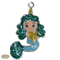 Mermaid Enamel Pendant