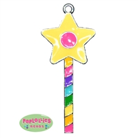 Rainbow Magic Wand Enamel Pendant