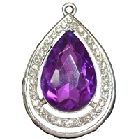 Purple Amulet  Pendant