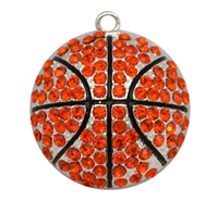 Rhinestone Basketball Pendant 45mm