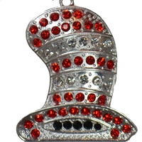 Cat in the Hat's Hat Rhinestone Pendant
