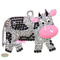 Friendly Cow Rhinestone Pendant