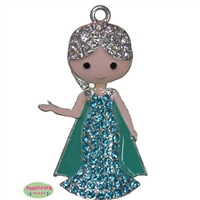 Frozen Ice Queen Rhinestone Pendant