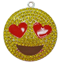 Emoji Happy Face Rhinestone Pendant