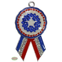 Winners Ribbon Rhinestone Pendant