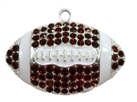 Rhinestone Football Pendant 53mm x 33mm