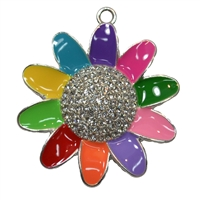 Girl Scout Inspired Rhinestone Pendant