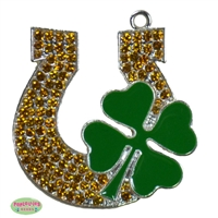 Enamel Lucky Horseshoe Pendant 35mm x 35mm
