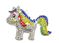 Little Rainbow Pony Rhinestone Pendant