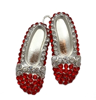 Wizard of Oz Red Slippers Rhinestone Pendant