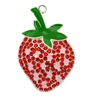 Strawberry Rhinestone Pendant
