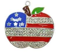 Apple Flag Rhinestone Pendant