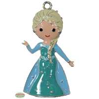 Ice Princess Inspired Elsa Enamel Pendant