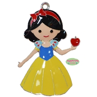 Princess Snow White Enamel Pendant