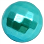 20mm Turquoise Facet Acrylic Pearl Bubblegum Beads