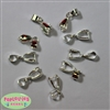 Silver Tone Pinch Bails for Creating Pendants