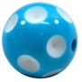 20mm Cyan Blue Polka Dot Bubblegum Beads