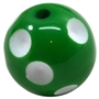 Emerald Green Polka Dot