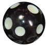 20mm Black Glow Polka Dot Bubblegum Beads