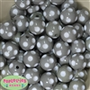 20mm Gray Polka Dot Bubblegum Beads