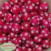 Bulk 20mm Hot Pink Polka Dot Beads
