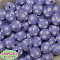 20mm Lavender Polka Dot Beads