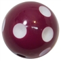 20mm Maroon Polka Dot Bubblegum Beads