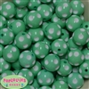 20mm Mint Polka Dot Bubblegum Beads