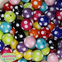 20mm Mixed Color Polka Dot Beads