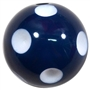 20mm Navy Blue Polka Dot Bubblegum Beads