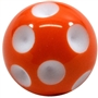 20mm Orange Polka Dot Bubblegum Beads