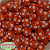 20mm Orange Polka Dot Bubblegum Beads Bulk