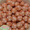 20mm Peach Polka Dot Bubblegum Beads