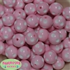 20mm Pink Polka Dot Bubblegum Beads