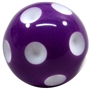 20mm Purple Polka Dot Bubblegum Beads