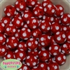 20mm Red Polka Dot Bubblegum Beads