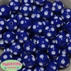 Bulk 20mm Royal Blue Polka Dot Beads