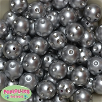 20mm Silver Polka Dot Beads