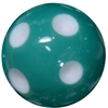 20mm Teal Green Polka Dot Bubblegum Beads
