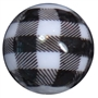 20mm White and Black Buffalo Plaid Print Beads