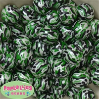 20mm Camo Bubblegum Beads