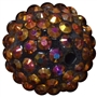 20mm Bronze Rhinestone Bead